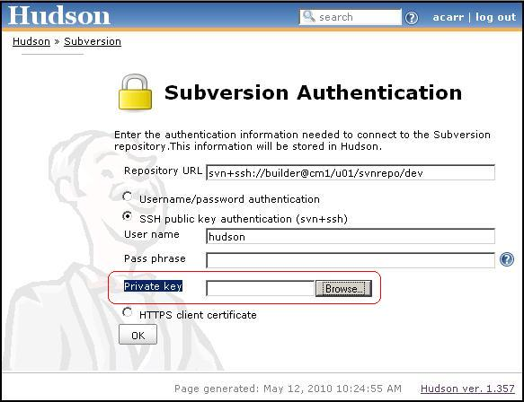 JENKINS-6511] Subversion Authentication: Field for Private