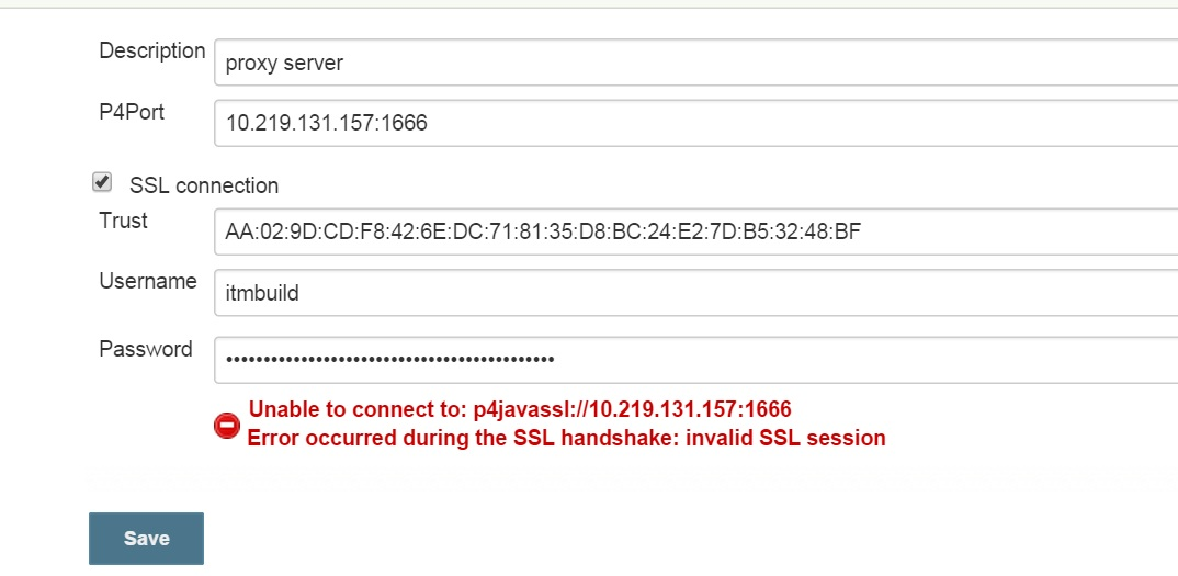 JENKINS-26176] P4 plugin: Error Error occurred during the SSL