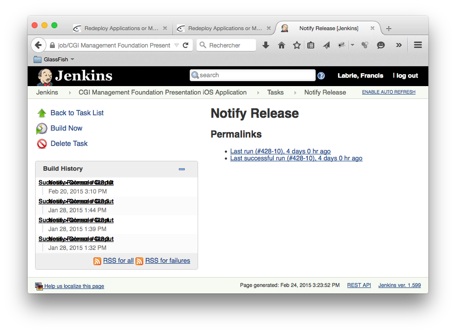 Jenkins 27112 layout issue in task build history for Capture d42cran