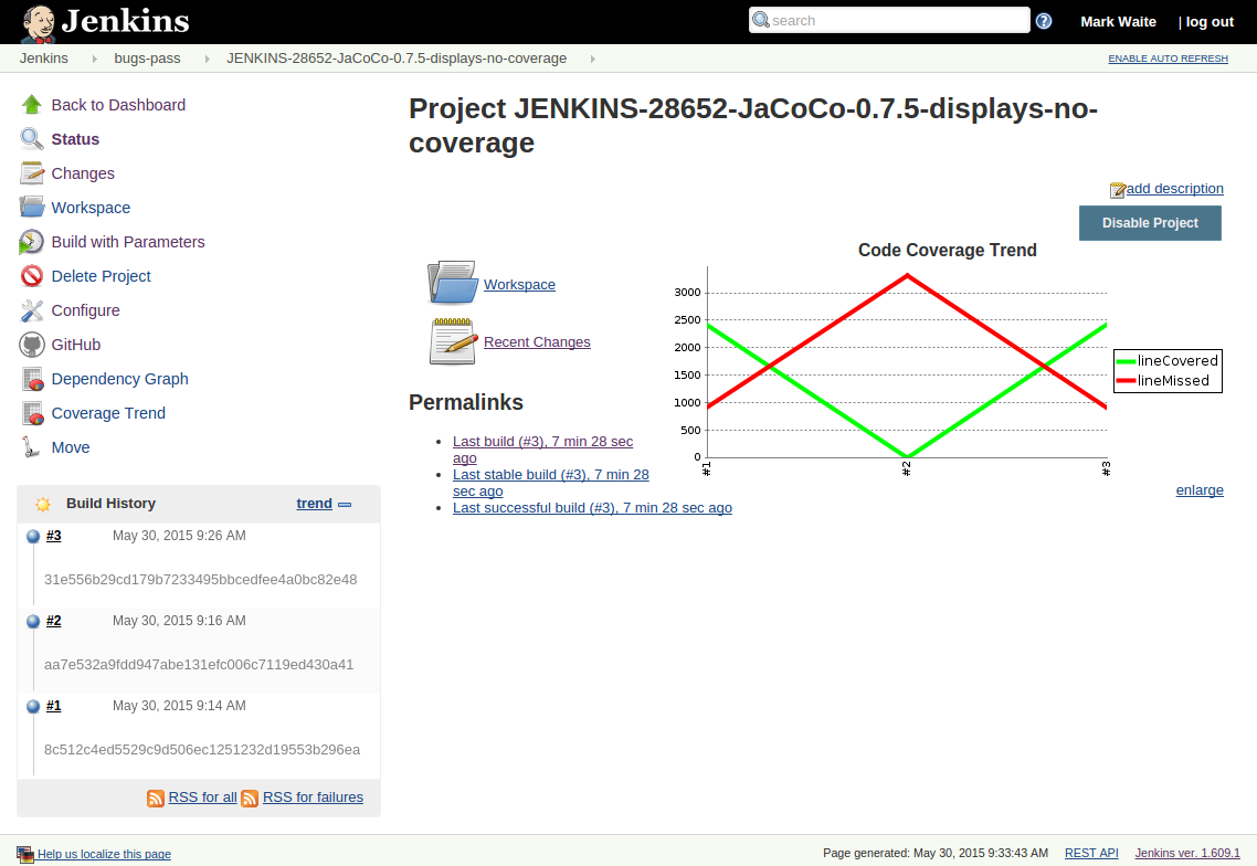 JENKINS-28652] JaCoCo 0 7 5 incorrectly shows 0% coverage in