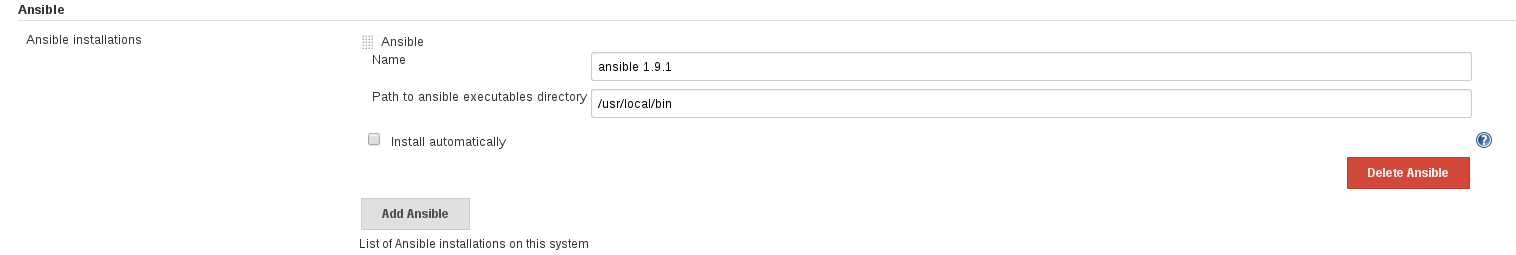 JENKINS-29149] Missing Ansible installation message