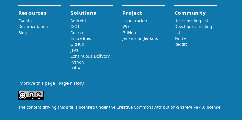 WEBSITE-168] This issue improves the footer  - Jenkins JIRA