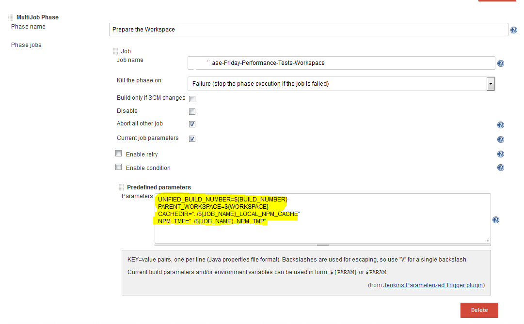 JENKINS-34864] MultiJob predefined parameters no longer