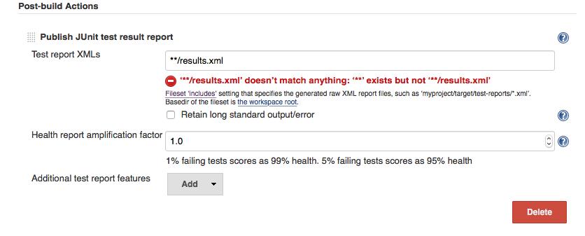 JENKINS-40103] Jenkins: JUnit Plugin: publish results doesn't show