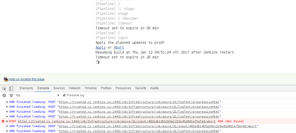 JENKINS-41015] Cannot abort input step anymore in Console Output