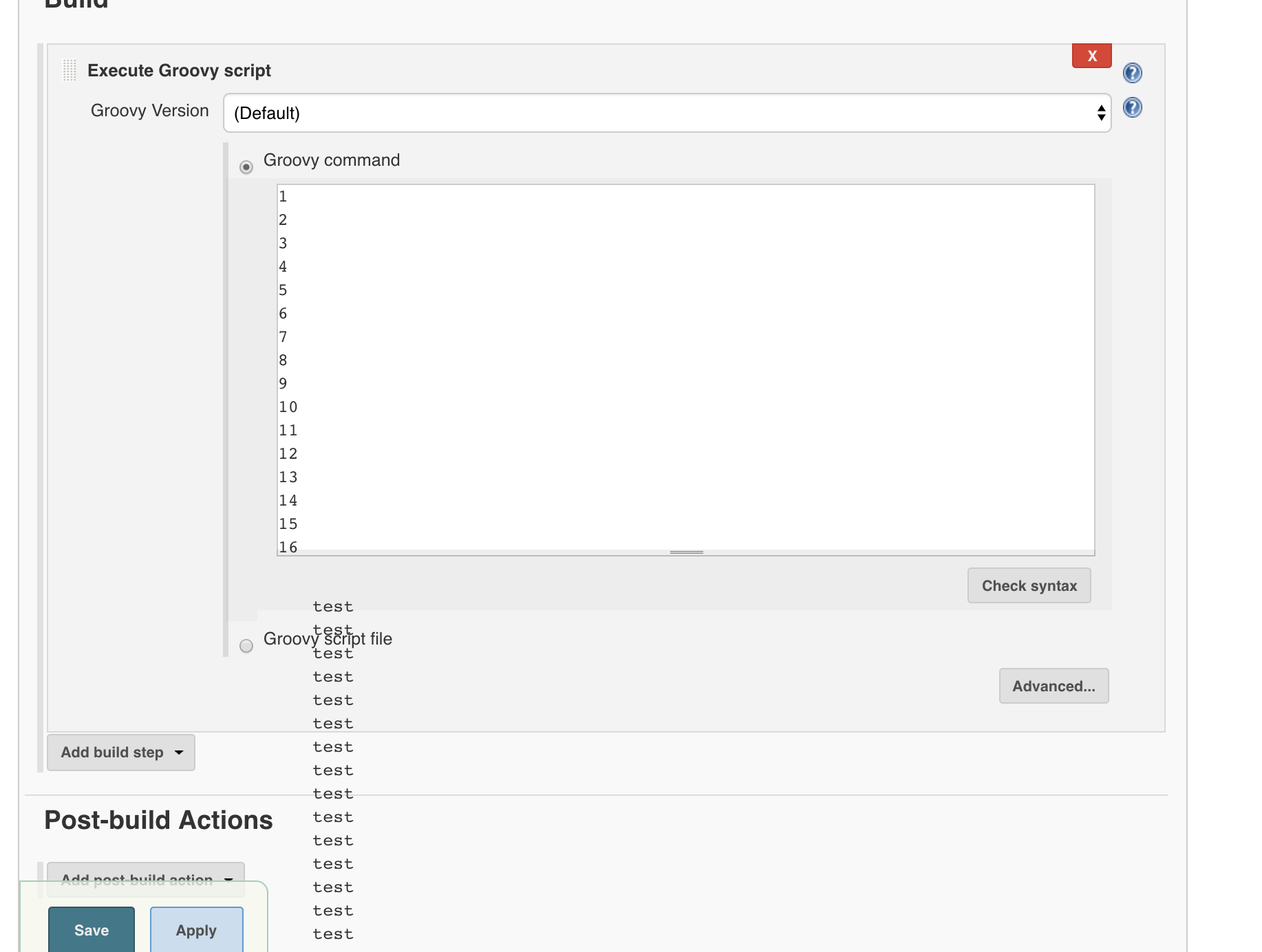 JENKINS-44709] UI Layout Broken affecting Groovy Build Step