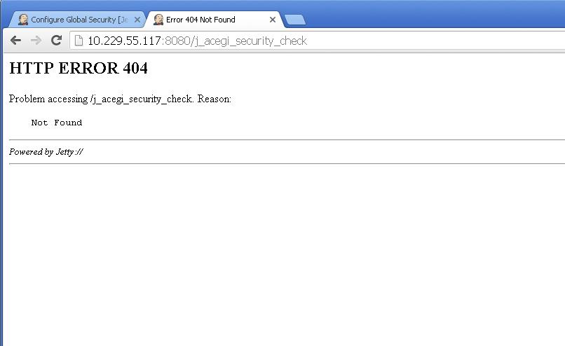 JENKINS-3761] When login j_acegi_security_check return a 404 error