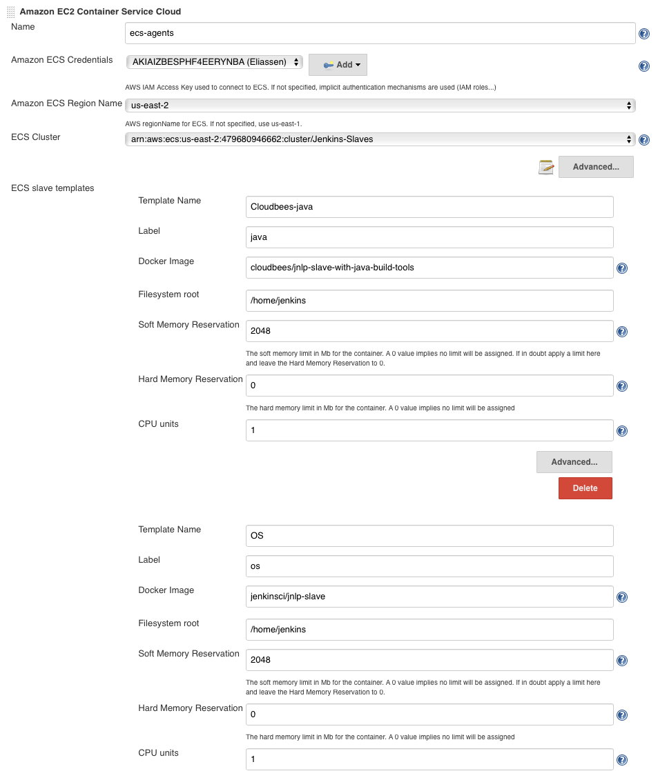 JENKINS-45833] Can not spin up JNLP agent on Amazon ECS - Jenkins JIRA