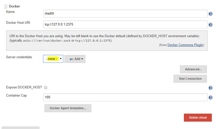 JENKINS-47618] Docker plugin's server credential drop down was not