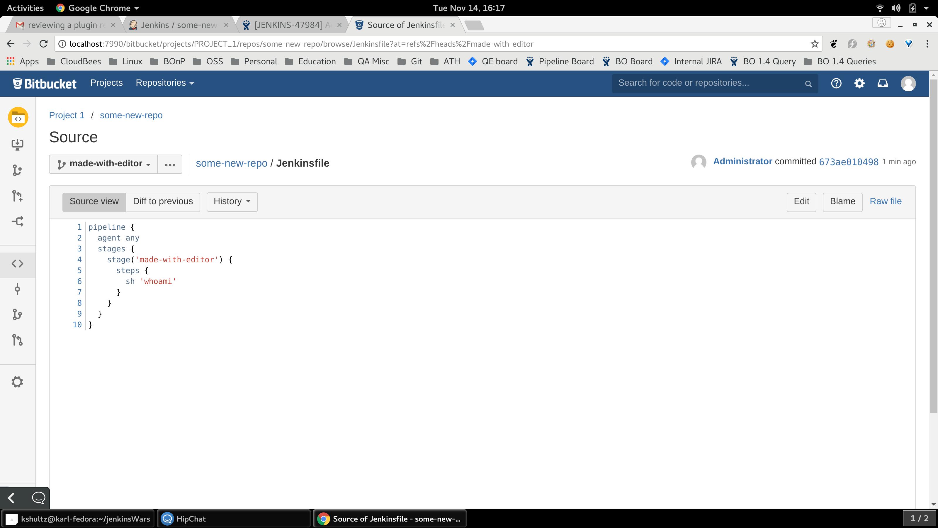 JENKINS-47984] Adding Bitbucket server with http instead of