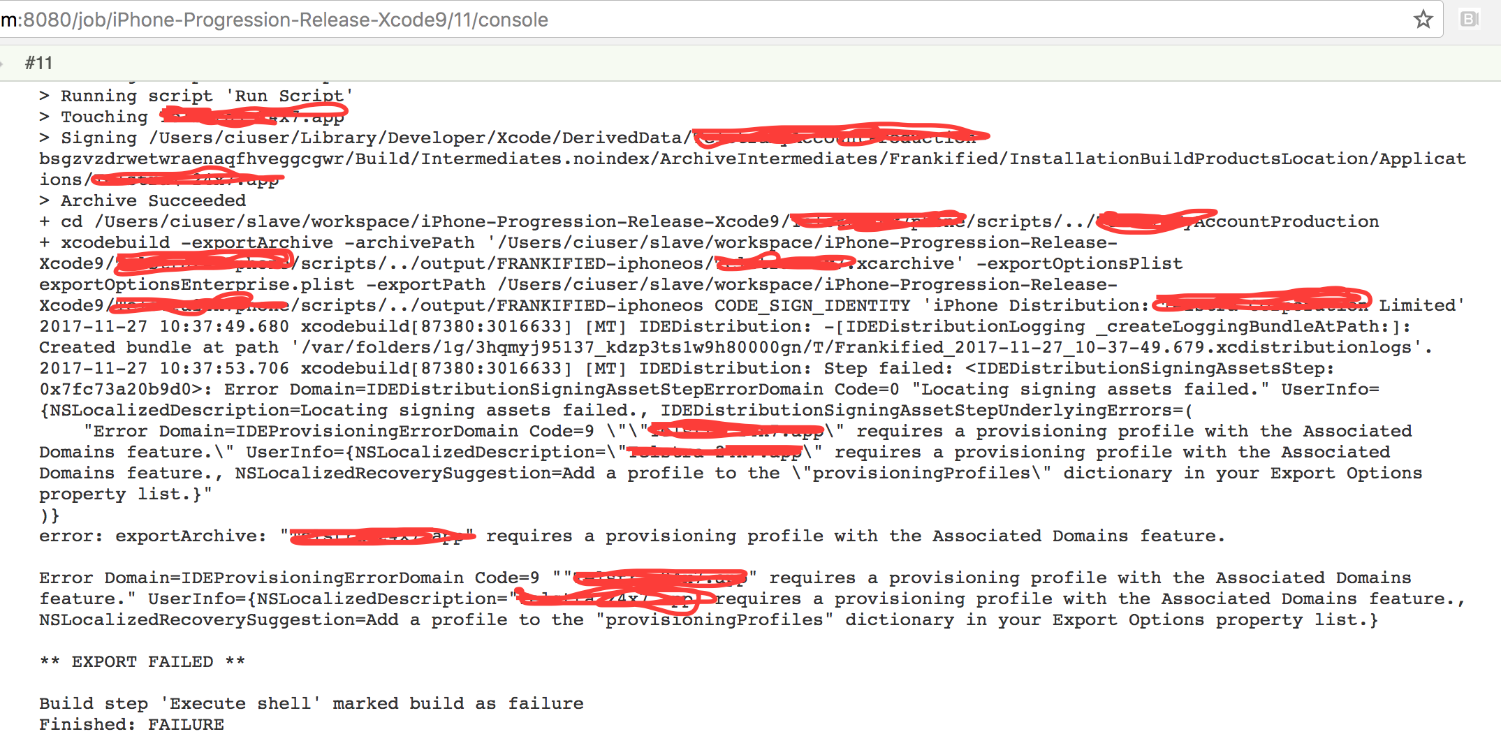 JENKINS-45509] Xcode 9 requires provisioning profile to be