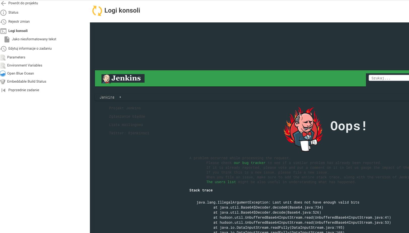 JENKINS-49836] Cannot view Console logs - Jenkins JIRA