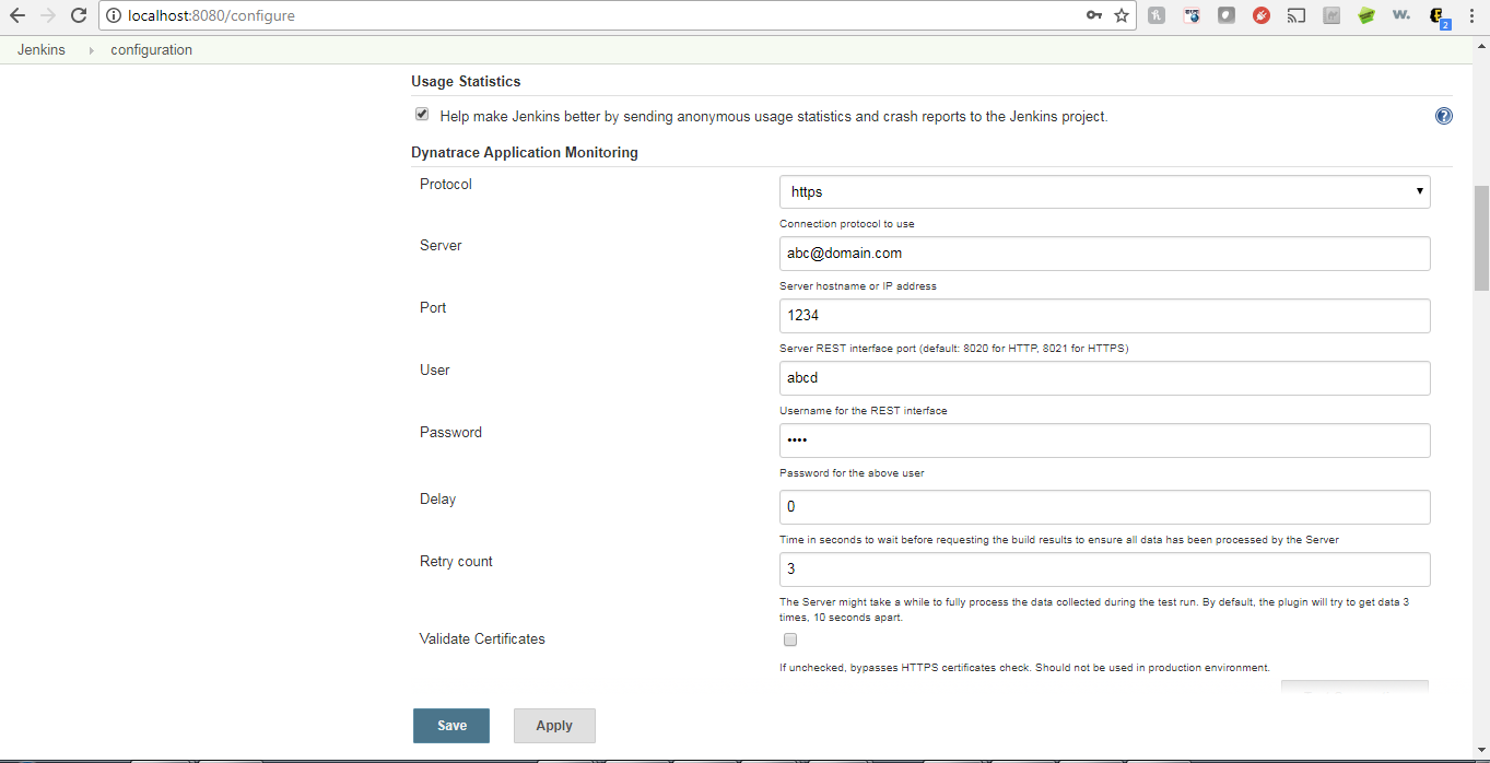 JENKINS-50701] Jenkin Dynatrace SAAS Integration issue - Jenkins JIRA