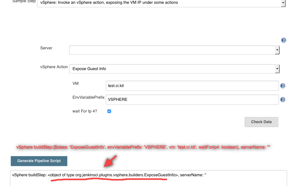 JENKINS-50773] Pipline script for vSphere ExposeGuestInfo