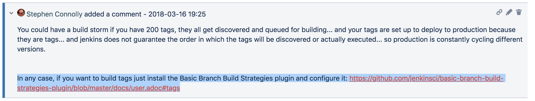 JENKINS-47496] No automatic builds for tags - Jenkins JIRA