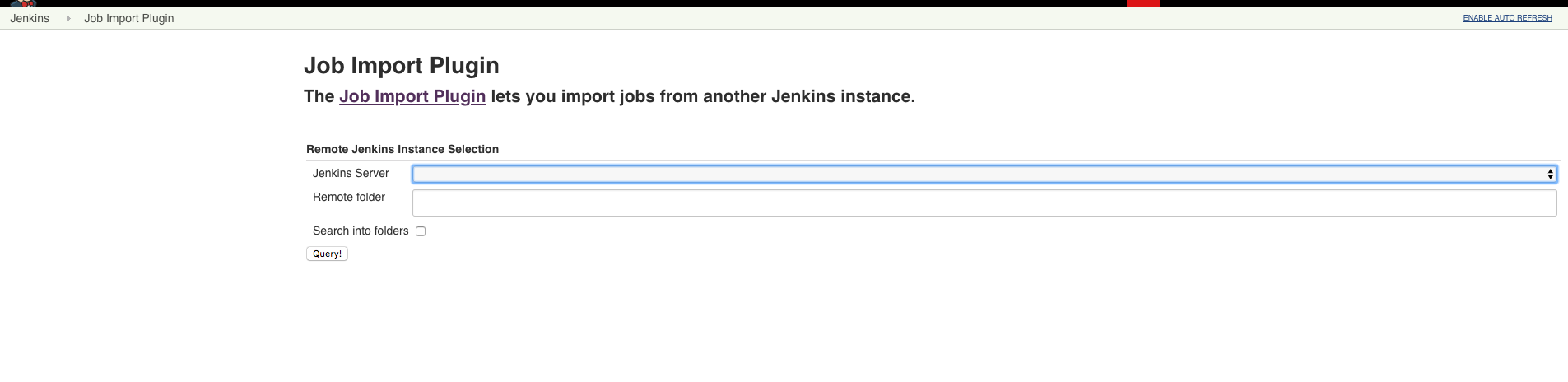 JENKINS-42197] Job import plugin refreshes the page after