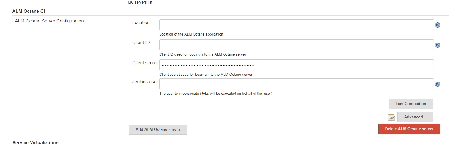 JENKINS-54493] ALM Octane CI in Configure System throws