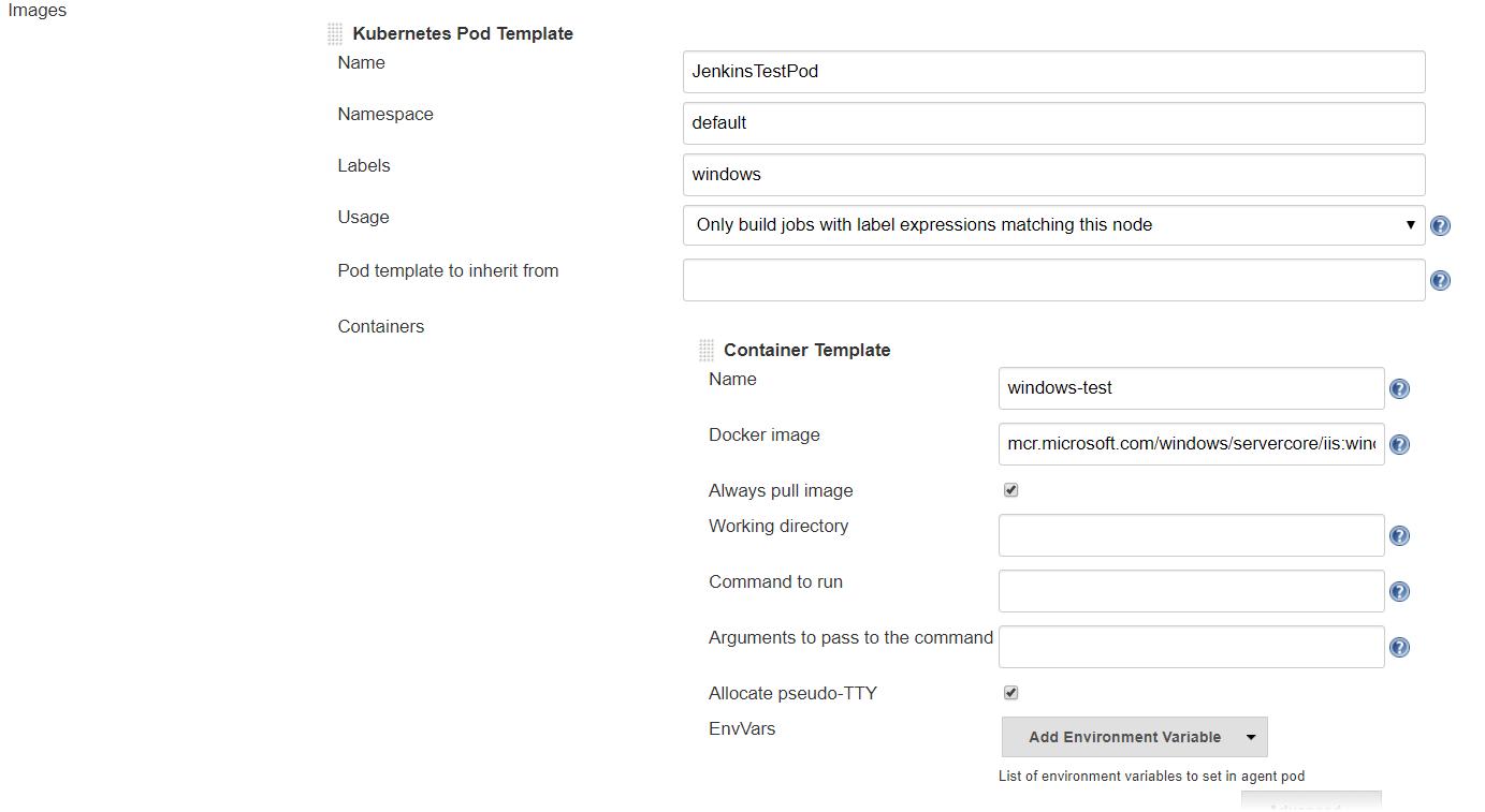 JENKINS-57256] Kubernetes plugin Windows agent support - Jenkins JIRA