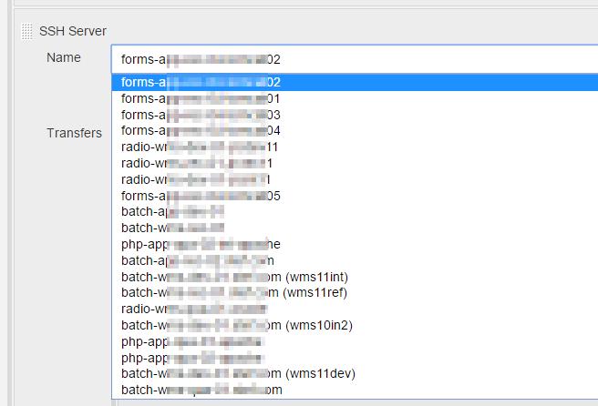 JENKINS-58543] sort ssh server list in job configuration page